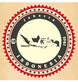Vintage label-sticker cards of indonesia vector