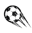 Soccer ball football symbol in grunge style vector