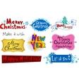 Festive christmas inscriptions vector