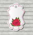 Elegant card with red rose for valentine day vector