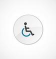 Cripple icon 2 colored vector