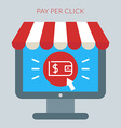 Online shopping concept in flat design styl vector