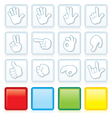 Buttons with signs vector
