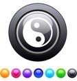 Ying yang circle button vector