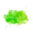 Green watercolor splatters vector