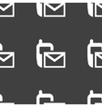 Sms web icon flat design seamless pattern vector