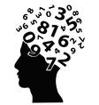 Numbers head vector