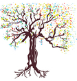 Tree at spring hand drawn vector