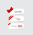 End of year sale savings labels set price tag sale vector