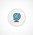 Globe icon 2 colored vector