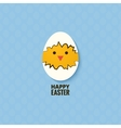 Easter chicken egg concept background vector