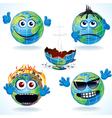 Cartoon earth icons vector