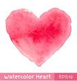 Pink watercolor heart vector