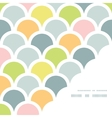 Abstract colorful fishscale corner frame pattern vector