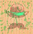 Hat mustache vector