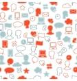 Social media icon pattern vector