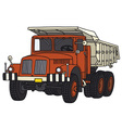 Old dumper truck vector