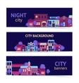 City banner horizontal vector
