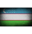 Flag of uzbekistan with old texture vector