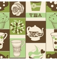 Retro tea seamless pattern vector