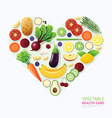 Infographic vegetable and fruit food health care vector