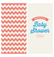 Baby shower card chevron background vector