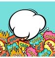 Sale comic speech bubble background in cartoon vector