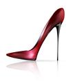 Red black shoe vector