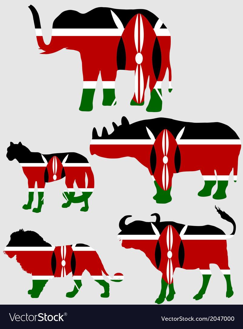 Big five kenya vector   Price: 1 Credit (USD $1)