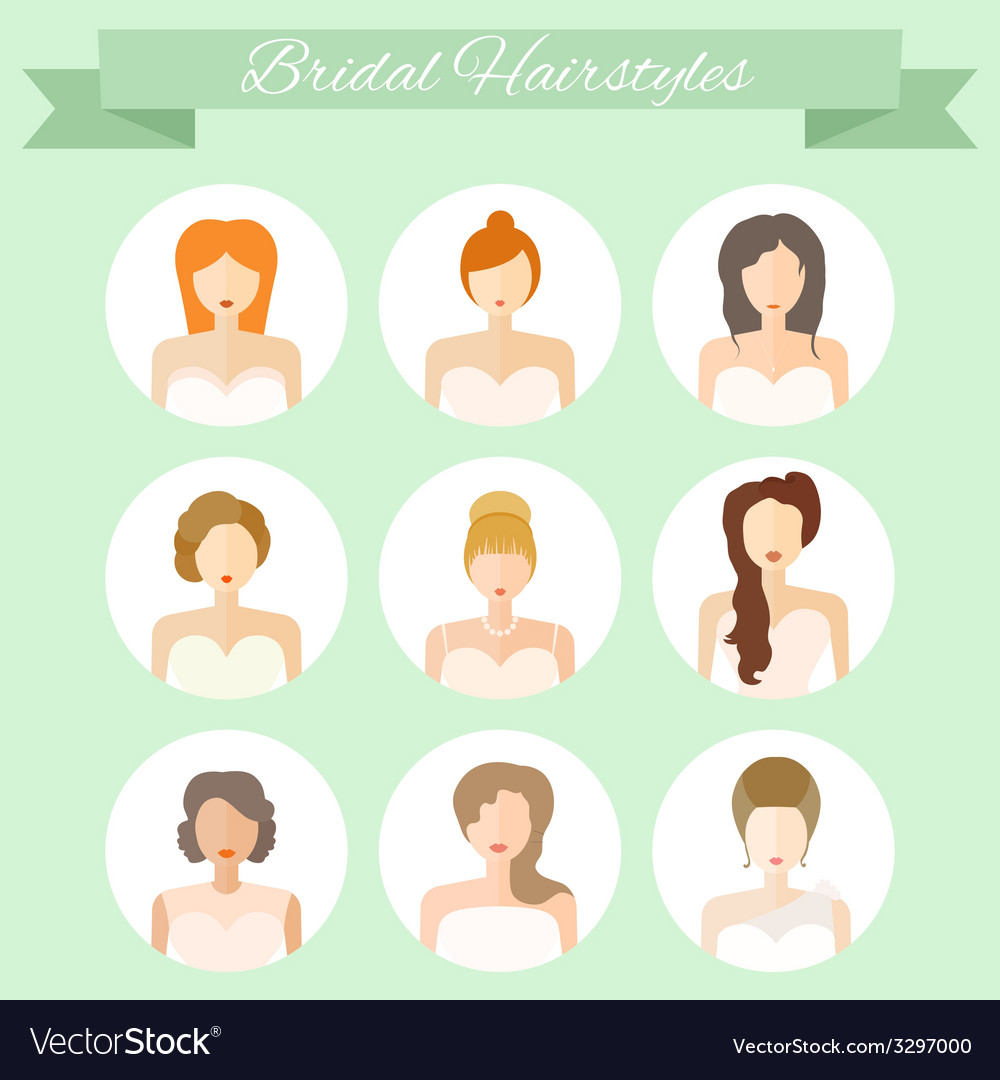 Bridal hairstyle vector | Price: 1 Credit (USD $1)