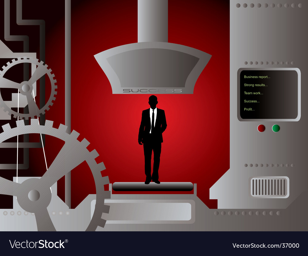 Businessman production vector | Price: 1 Credit (USD $1)