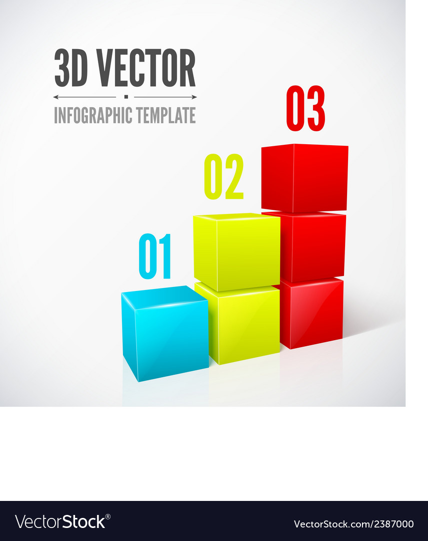 Cubes 3d infographics modern design layout vector | Price: 1 Credit (USD $1)
