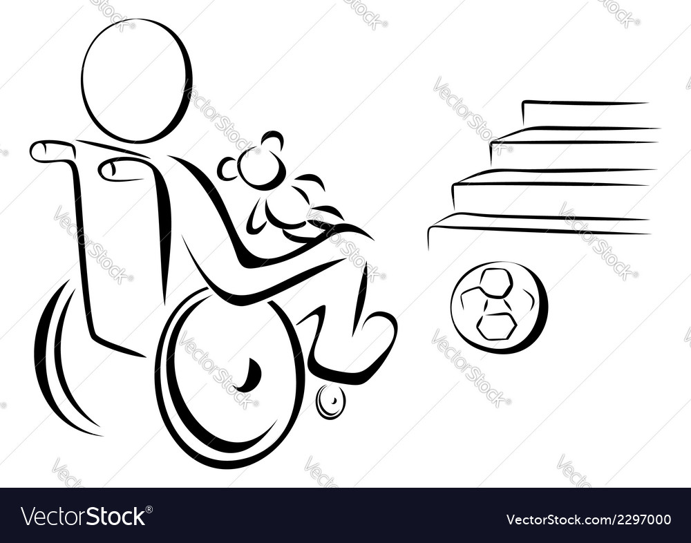 Disabled child vector | Price: 1 Credit (USD $1)