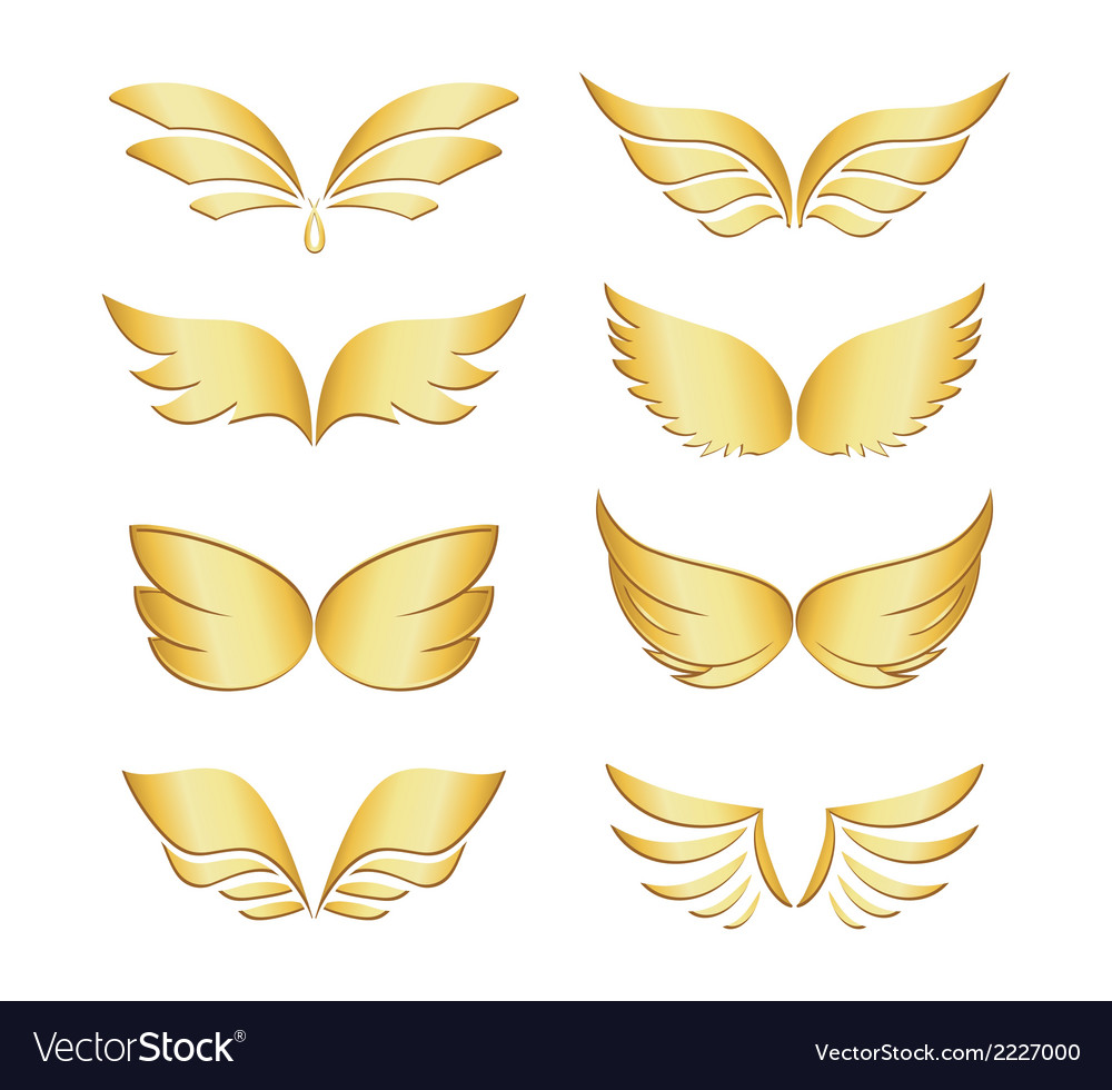 Golden wings vector | Price: 1 Credit (USD $1)