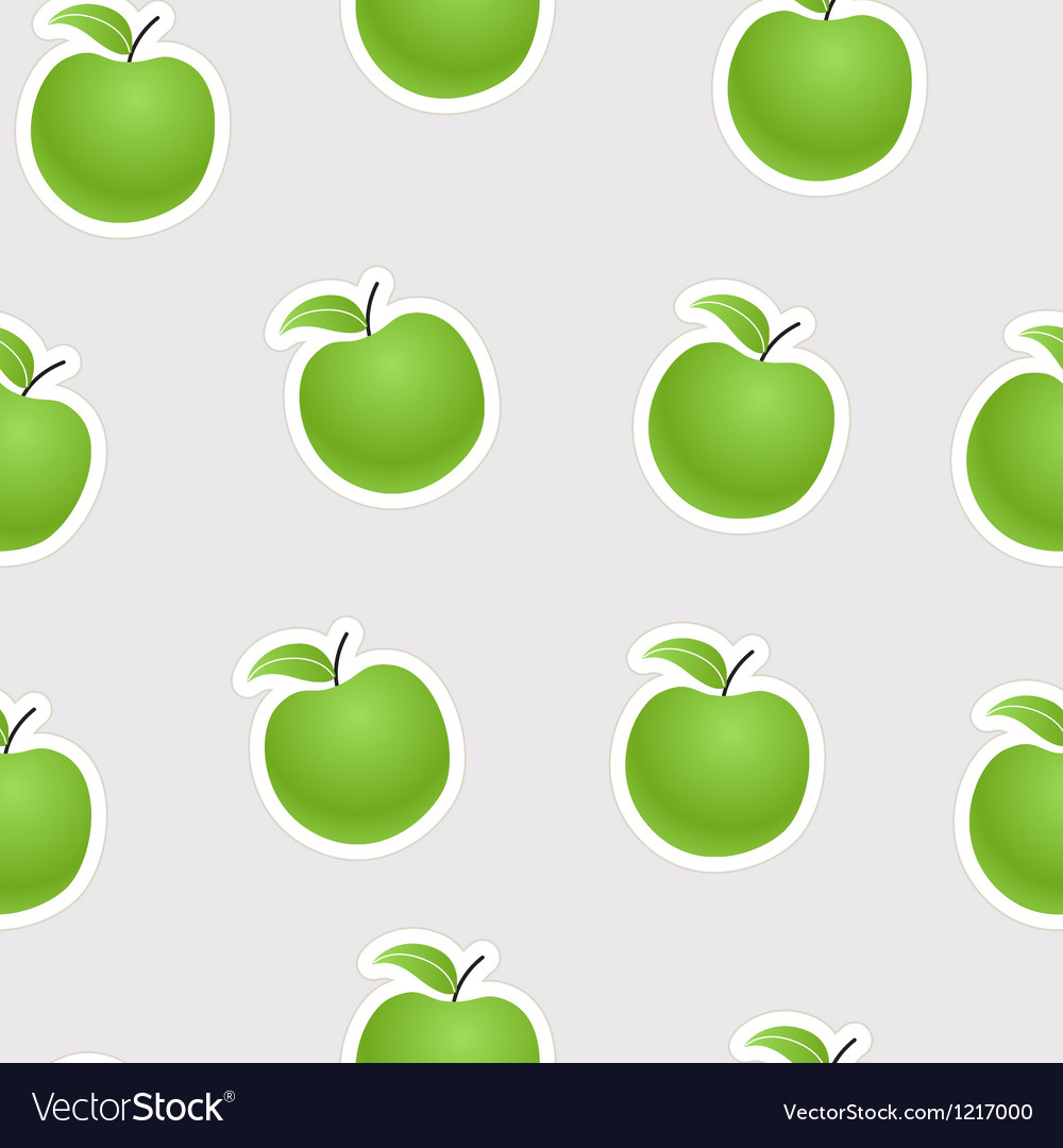 Green apples seamless background vector | Price: 1 Credit (USD $1)