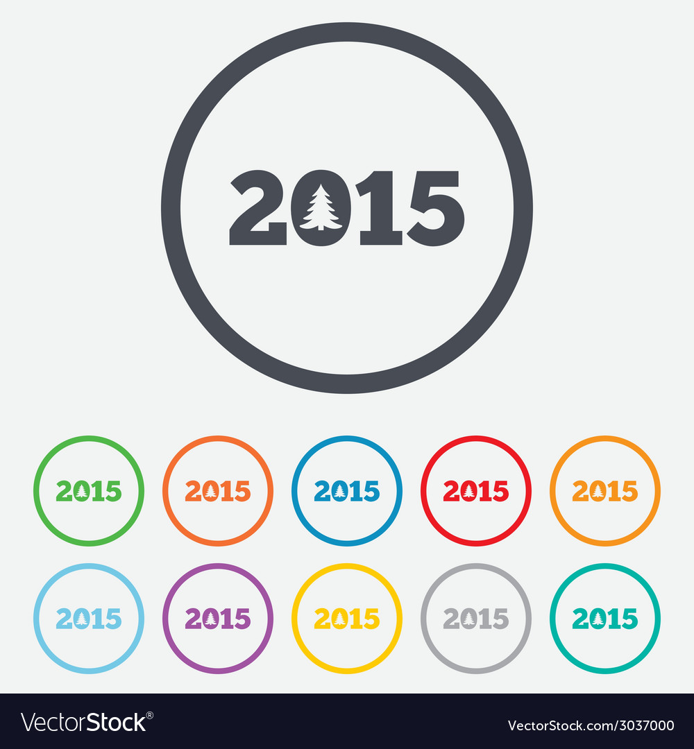 Happy new year 2015 sign icon calendar date vector   Price: 1 Credit (USD $1)