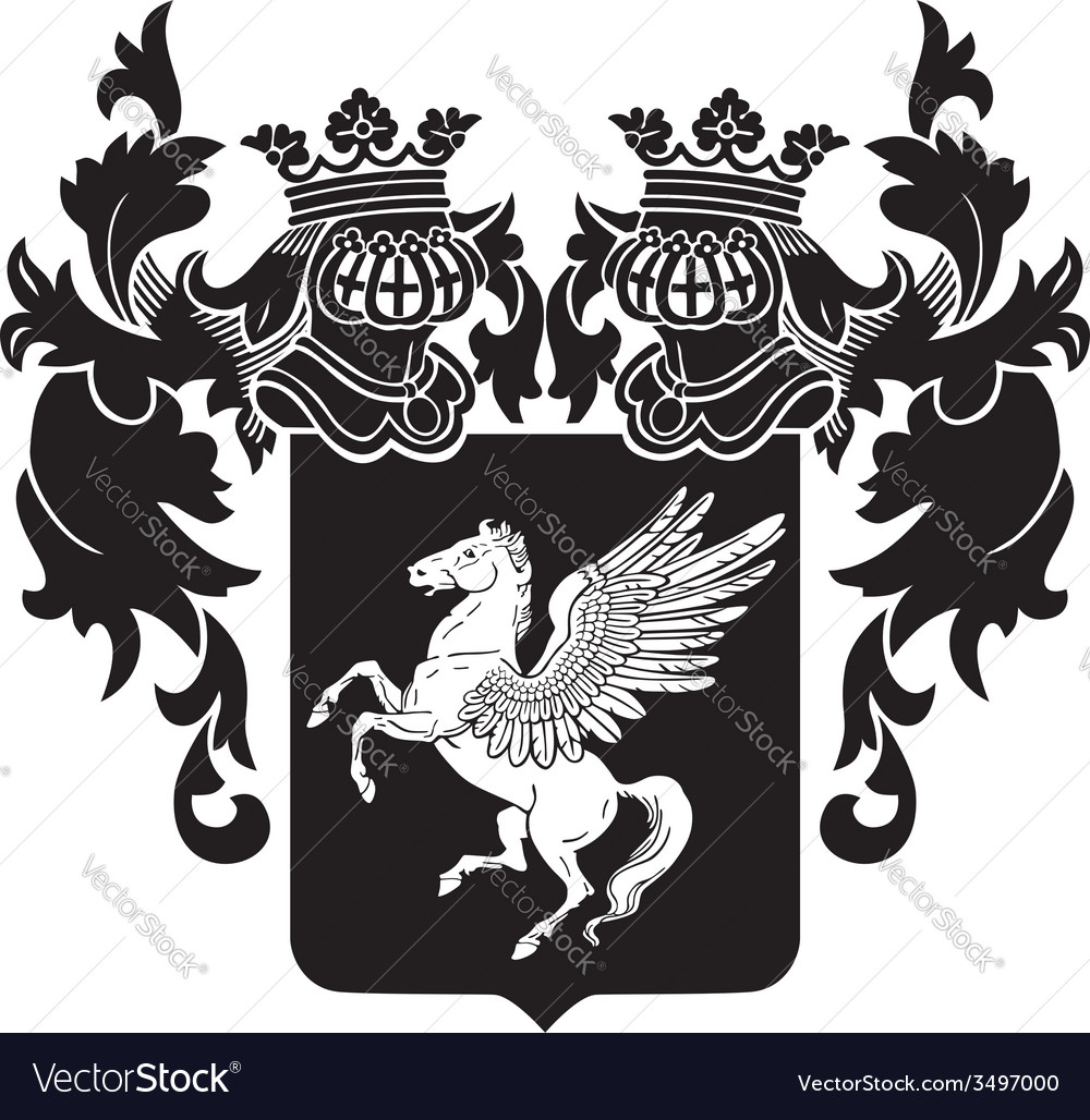 Heraldic silhouette no32 vector | Price: 1 Credit (USD $1)