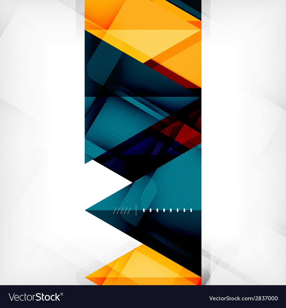 Hitech geometric futuristic business background vector