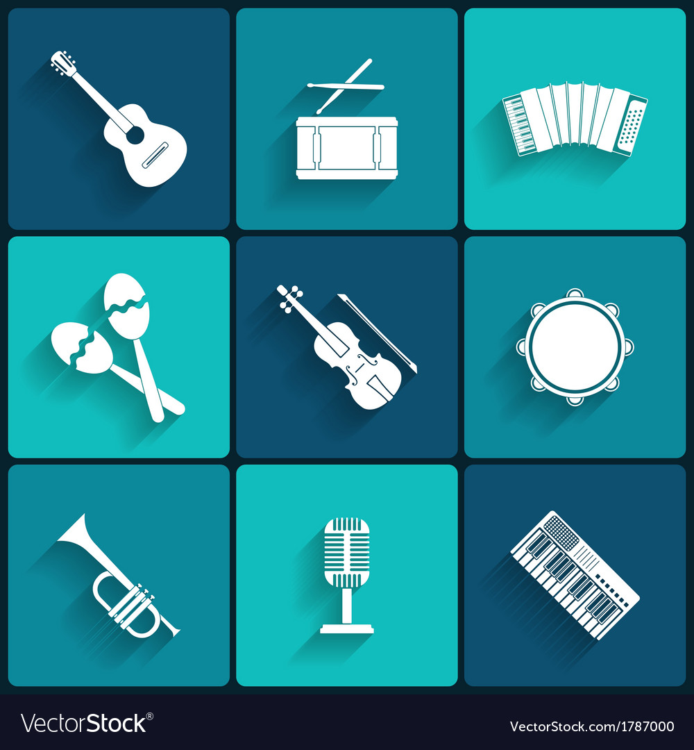 Icon of musical equipment vector | Price: 1 Credit (USD $1)