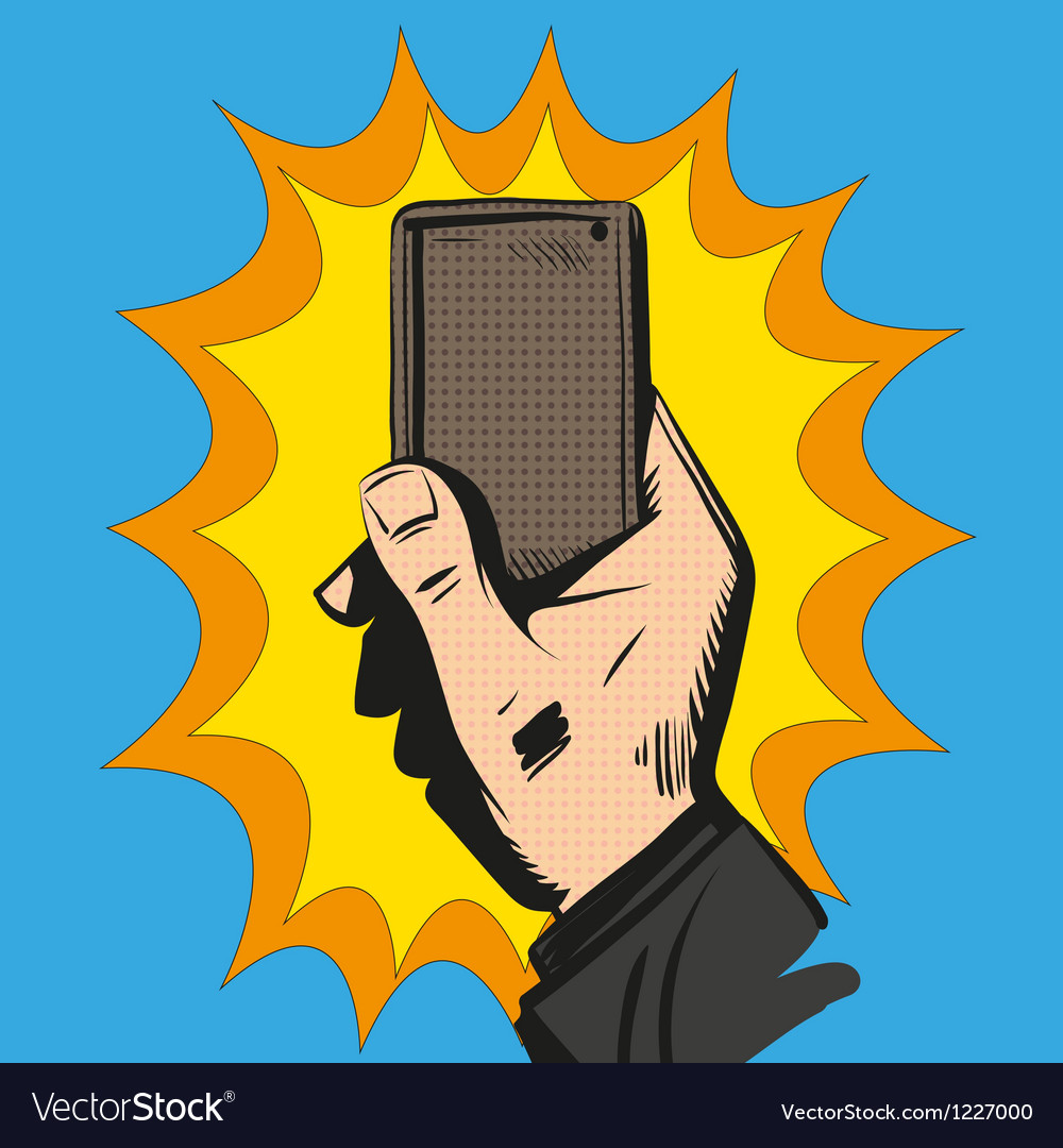 Phone in the hand vector | Price: 1 Credit (USD $1)