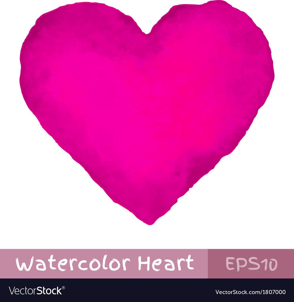 Purple watercolor heart vector | Price: 1 Credit (USD $1)