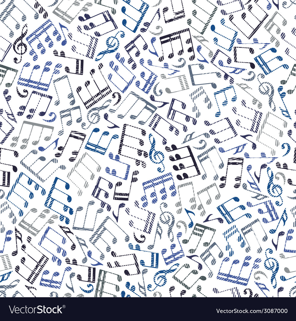 Seamless aged musical notes background vector | Price: 1 Credit (USD $1)