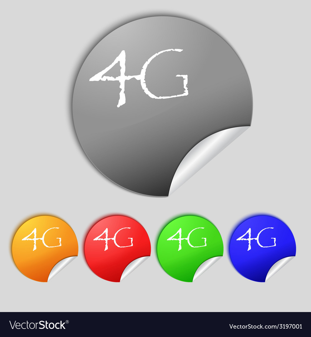 4g sign icon mobile telecommunications technology vector | Price: 1 Credit (USD $1)