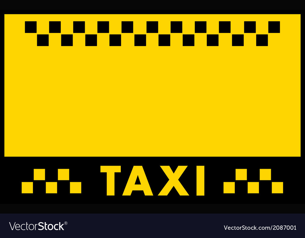 Advertise taxi background vector | Price: 1 Credit (USD $1)