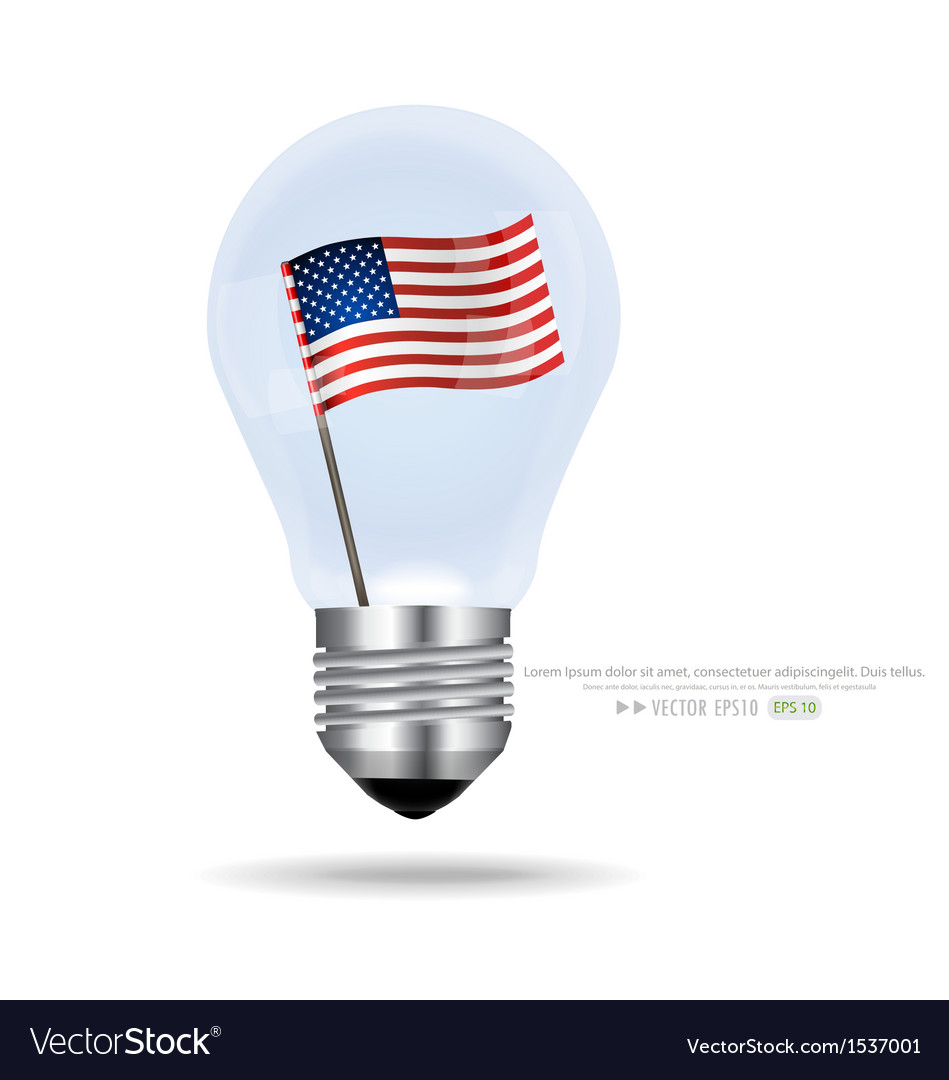 American flag inside light bulb eps10 vector | Price: 1 Credit (USD $1)
