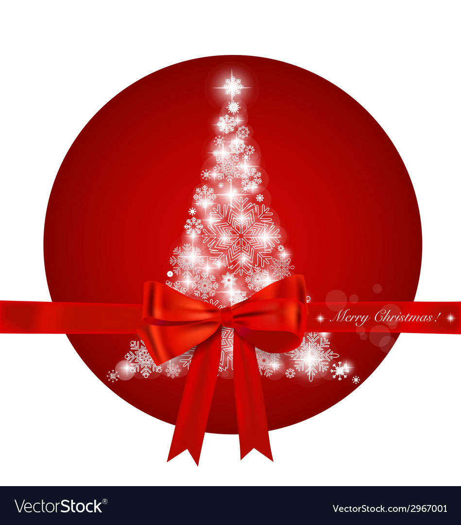 Christmas background with christmas tree vector   Price: 1 Credit (USD $1)