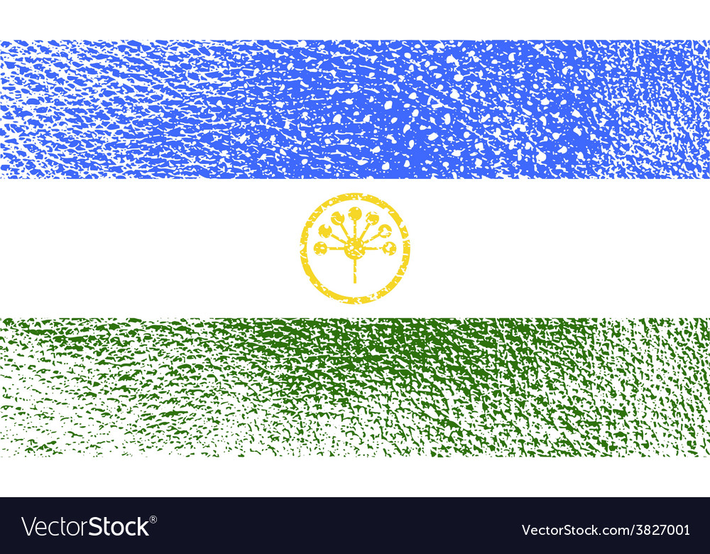 Flag of bashkortostan with old texture vector | Price: 1 Credit (USD $1)
