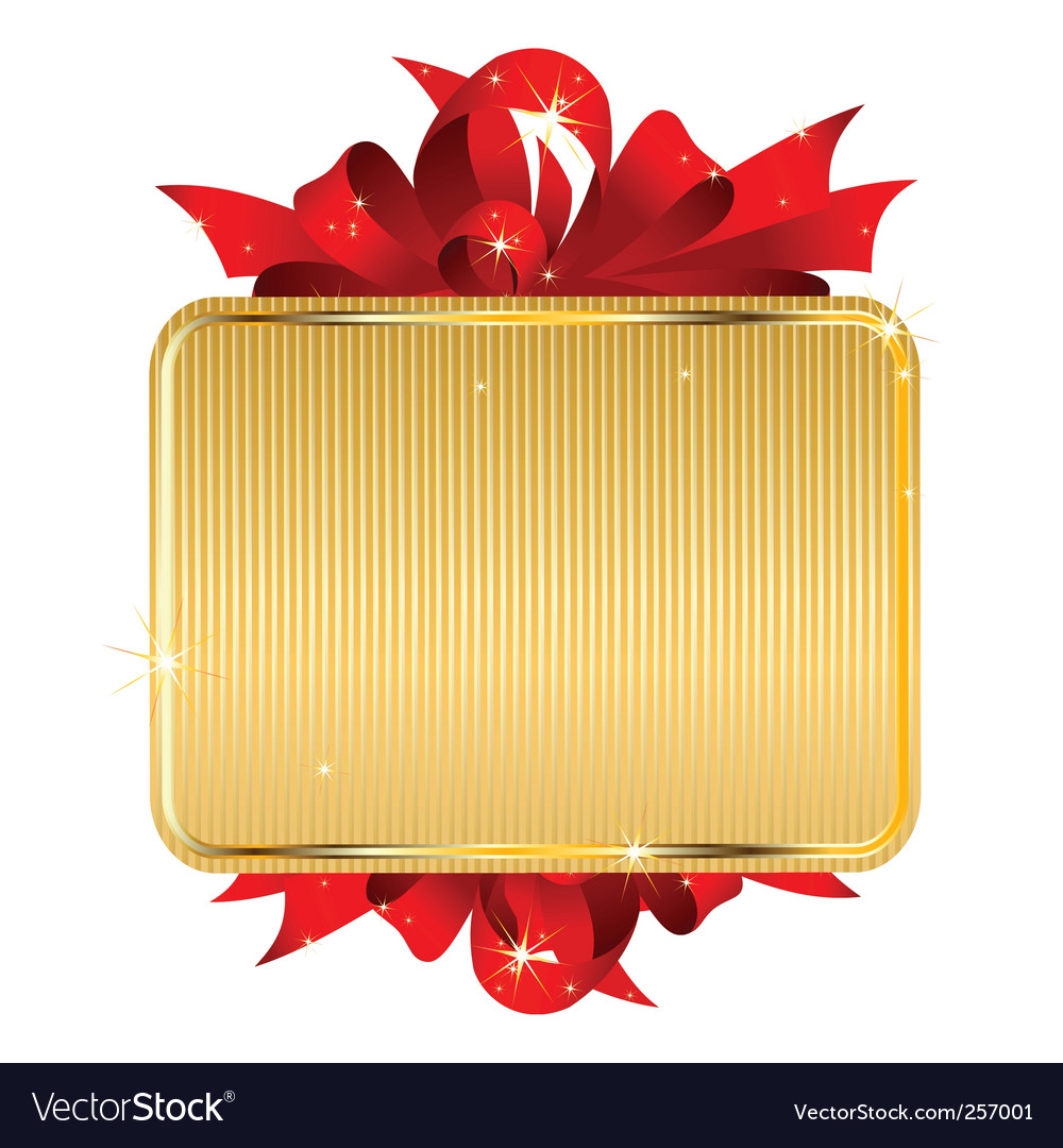 Gold tag with bow vector   Price: 1 Credit (USD $1)