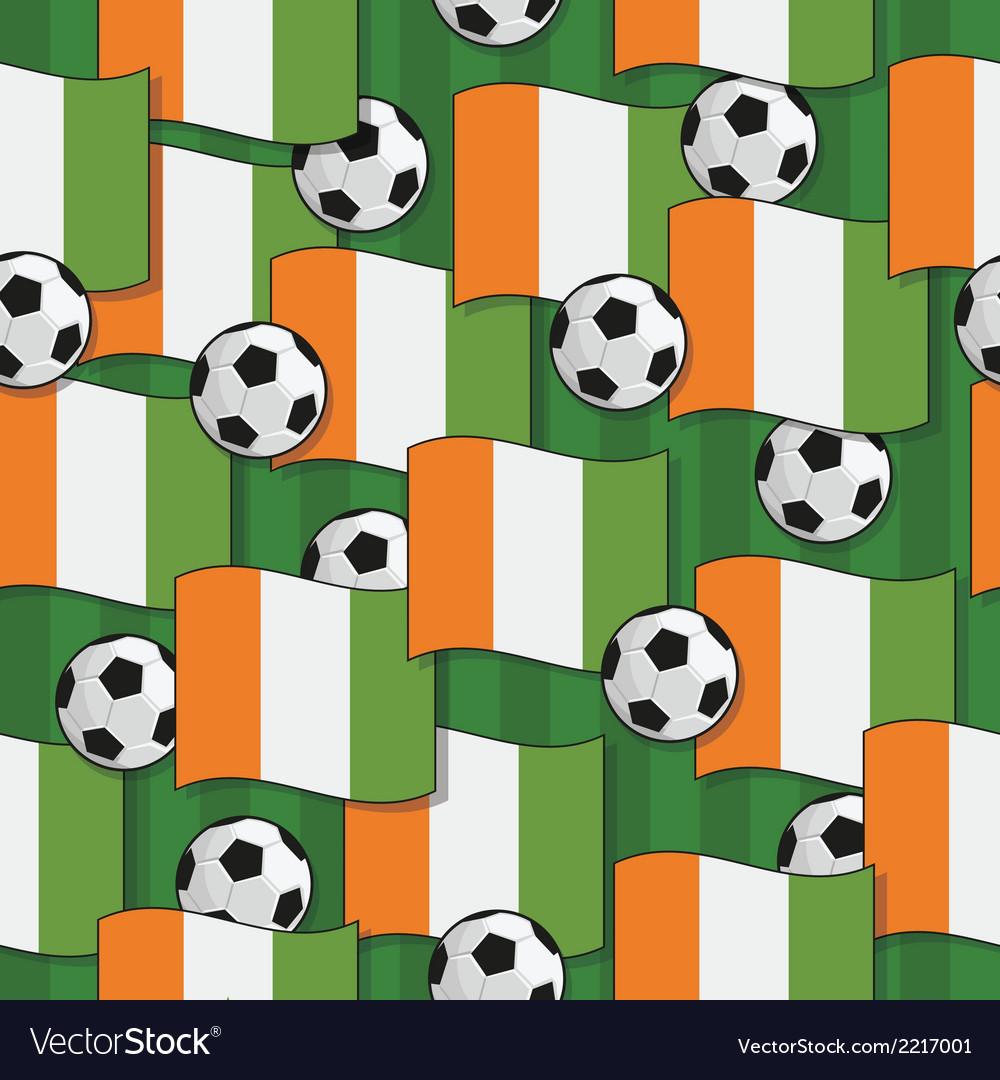Ivory coast football pattern vector | Price: 1 Credit (USD $1)