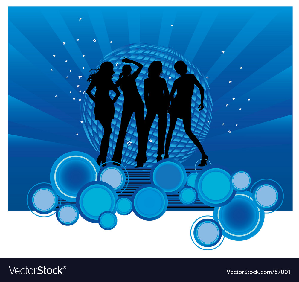 Party girls vector | Price: 1 Credit (USD $1)